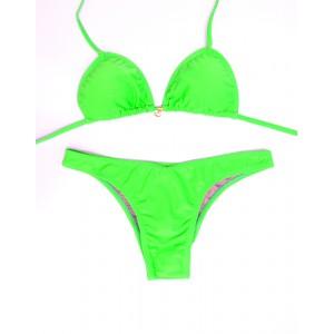 Biquíni Cortininha - Verde Fluorescente