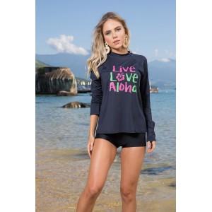 Blusa Proteção UV Feminina Estampada